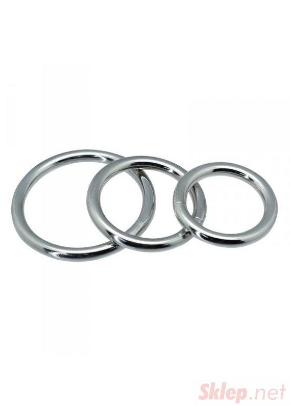 Timeless metal rings (3 pcs)