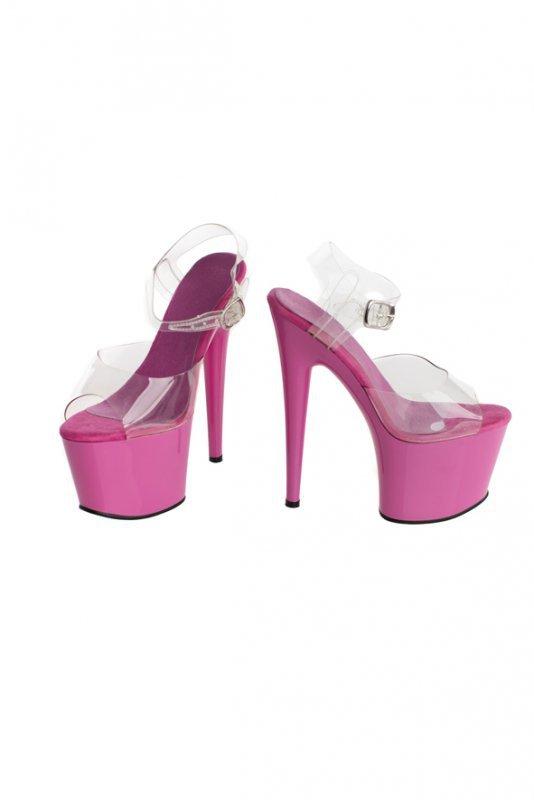 Buty- różowe platformy 38