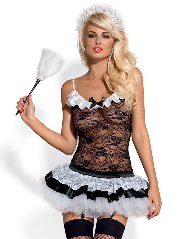 Bielizna-Housemaid kostium 5-częściowy L/XL