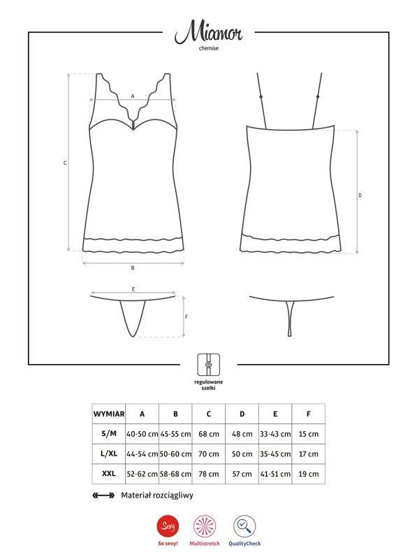 Bielizna-Miamor koszulka i stringi XXL