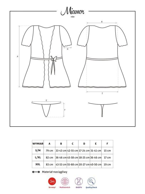 Bielizna-Miamor szlafrok i stringi XXL