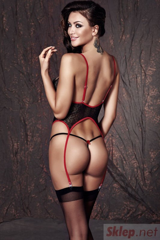 Bielizna-JADE black corset L ( czarnyn gorset )
