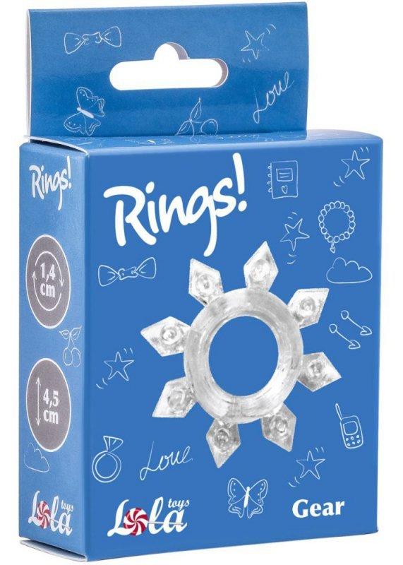 Pierścień-Cockring Rings Gear white