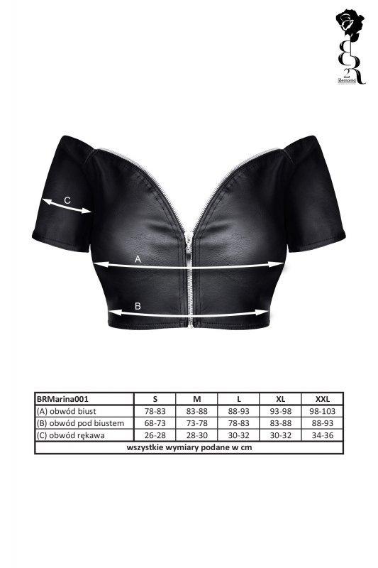 Bielizna - BRMARINA001 top czarny rozmiar XL