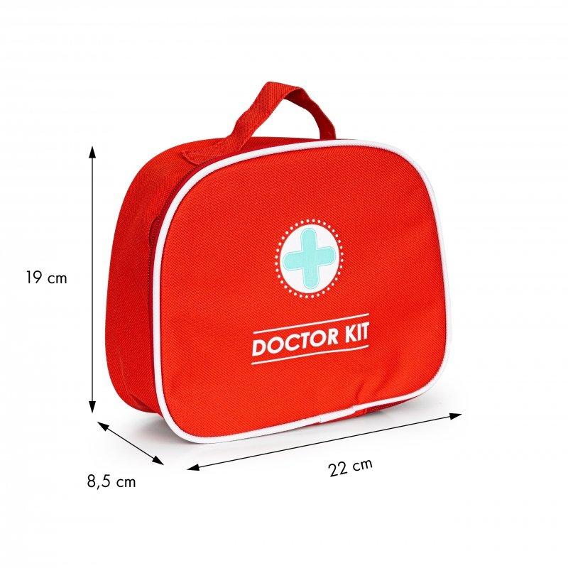 Drewniany zestaw lekarski torba + 9 el. ECOTOYS