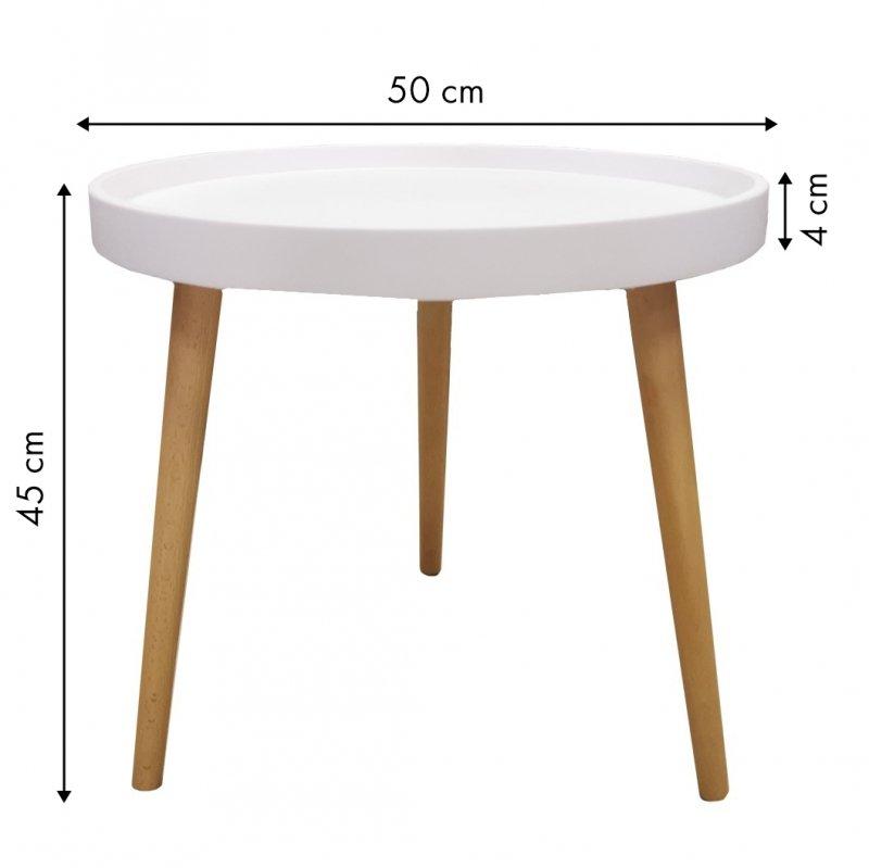 Stolik stół kawowy skandynawski ława szafka nocna