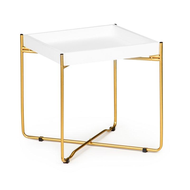 Stolik kawowy nocny ława LOFT skandynawski  metalowe złote nogi