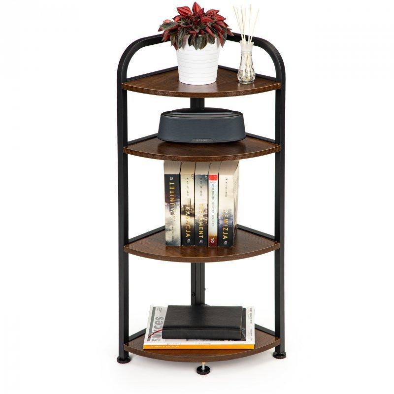 Regał stojak narożny szafka 4 półki LOFT drewniana narożnikowa ModernHome