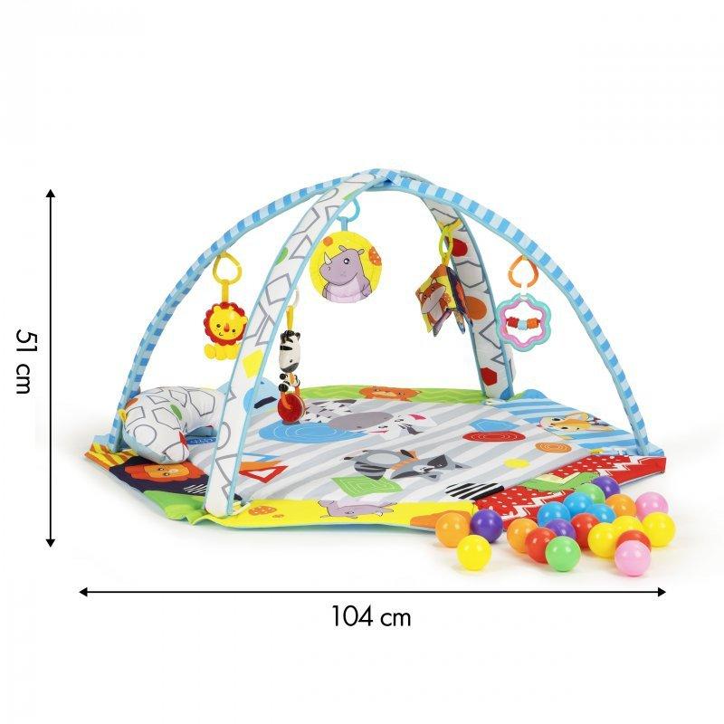 Mata edukacyjna dla niemowląt dźwięki led piłki