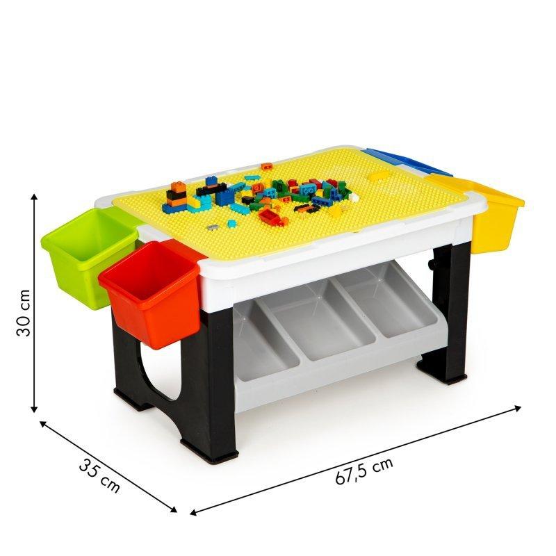 Stolik do zabawy układanie klocków dla dzieci