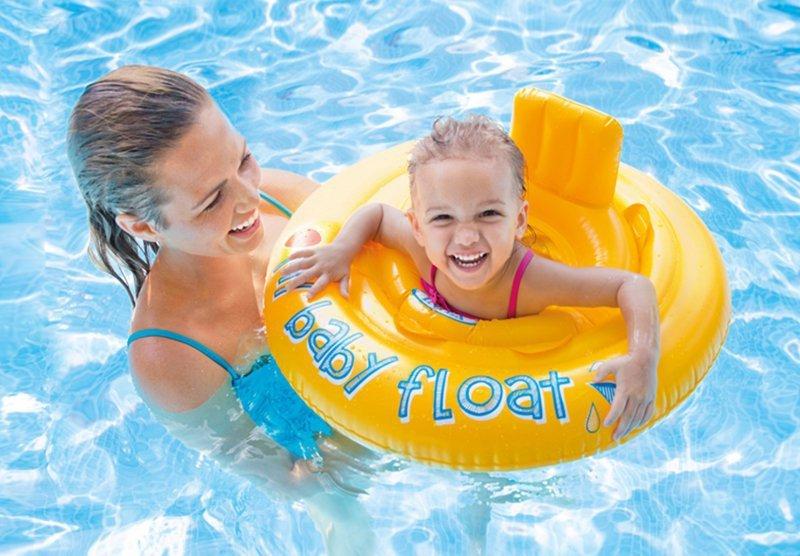 Koło do Nauki Pływania Fotelik Oparcie Intex 56585