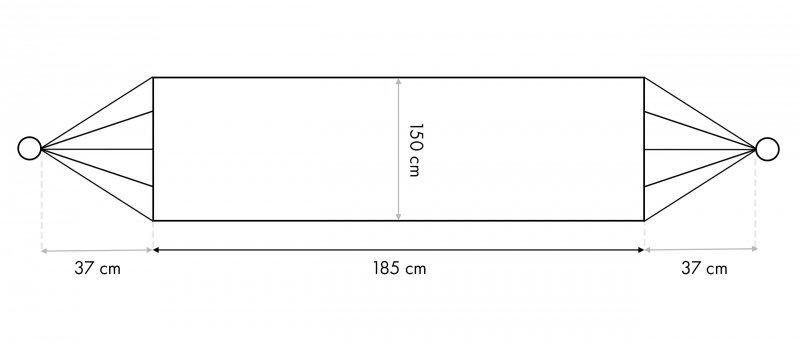 Hamak ogrodowy dwuosobowy huśtawka z pokrowcem
