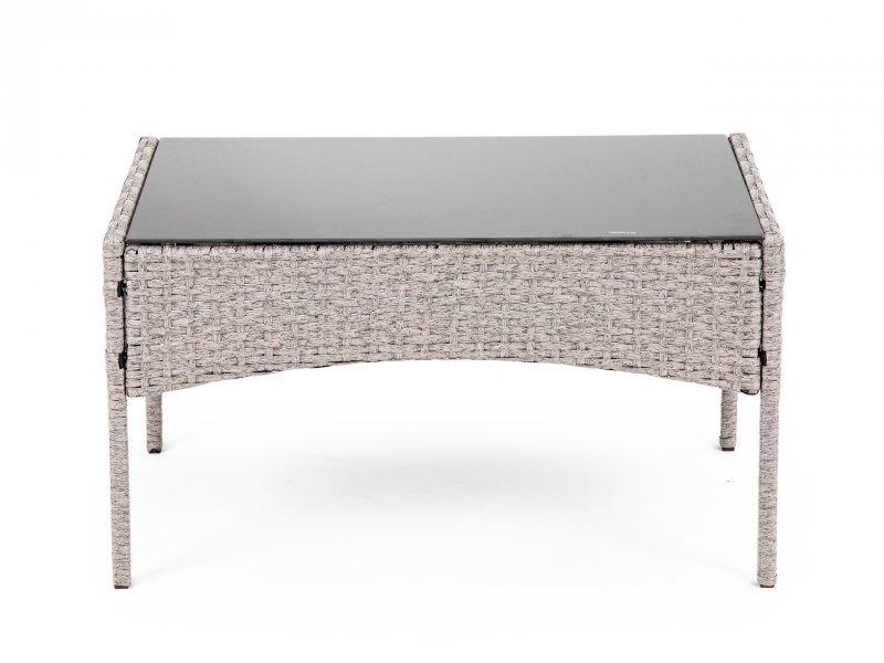 Zestaw mebli ogrodowych stół 2x fotel ławka ratan
