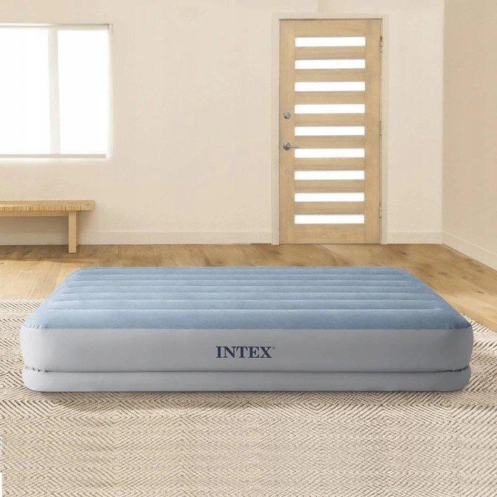 Dmuchany materac łóżko dwuosobowe pompka Intex