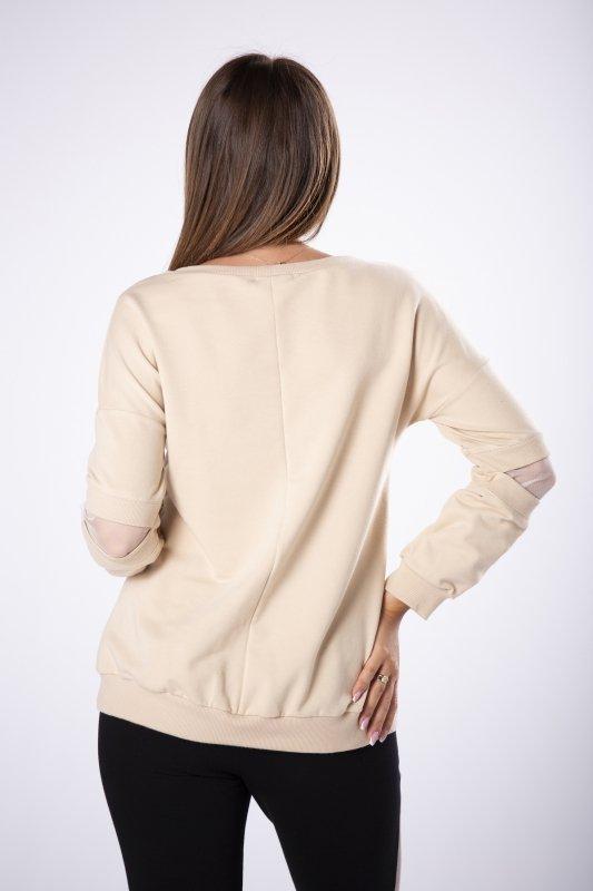 bluza z siateczką na rękawach