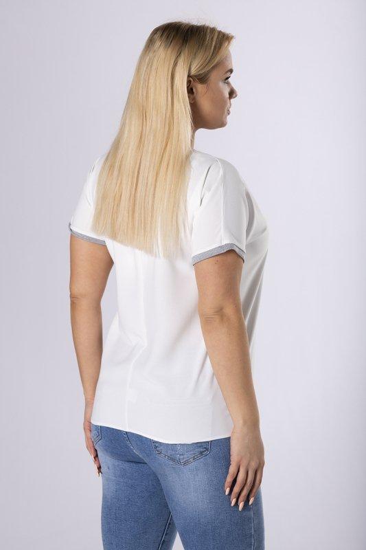bluzka z ozdobnymi ściągaczami