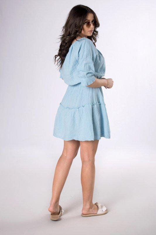 muślinowa sukienka z trokami