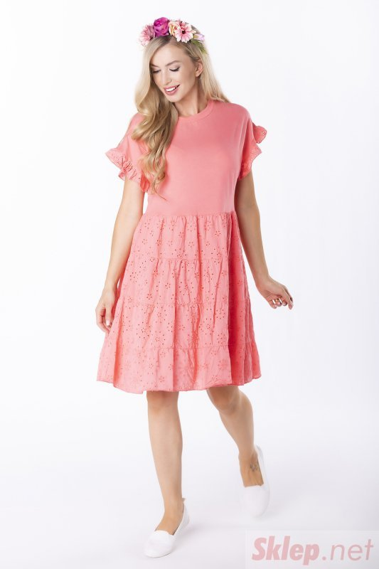 bawełniana sukienka z falbankami