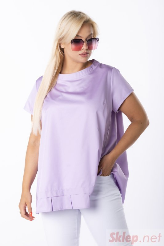 trapezowa bluzka z plisą