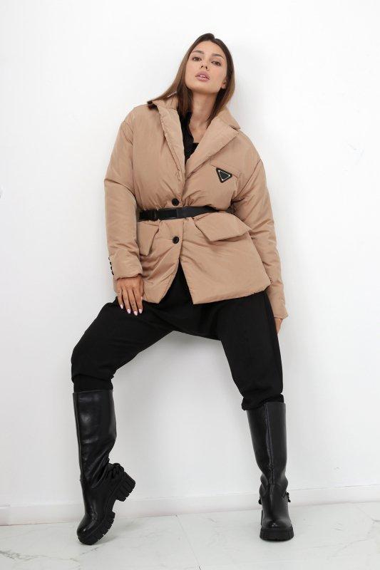 casualowa kurtka z paskiem
