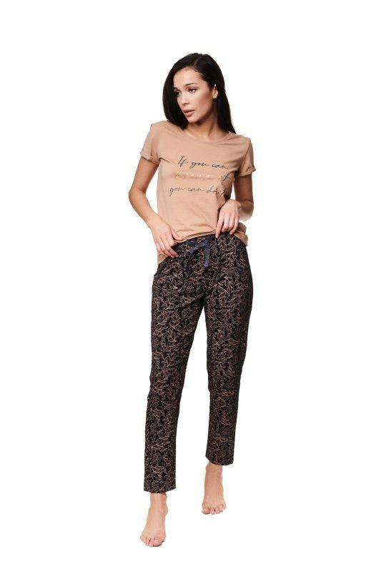 Piżama Zaylee 39217-80X Brązowa
