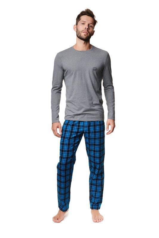 Piżama Mace 39237-90X Szaro-Niebieska