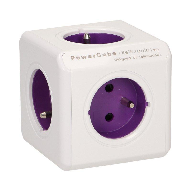 Rozgałęźnik Power Cube ReWirable + 4 wtyczki podróżne