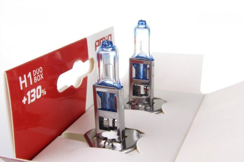01404 Zestaw żarówek halogenowych H1 12V 55W LumiTec Limited +130% Duo Box