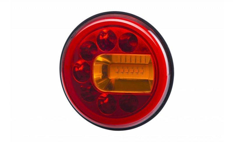 Lampa zespolona tylna hor 96a - luna, diodowa 12/24v, prawa (wersja naścienna, światło pozycyjne, hamowania i kierunkowskaz, prz