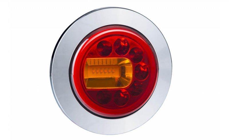 Lampa zespolona tylna hor 96a - luna, diodowa 12/24v, lewa (wersja wpuszczana, światło pozycyjne, hamowania i kierunkowskaz, prz