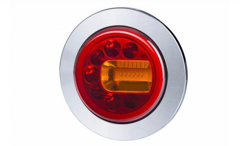 Lampa zespolona tylna hor 96a - luna, diodowa 12/24v, prawa (wersja wpuszczana, światło pozycyjne, hamowania i kierunkowskaz, pr
