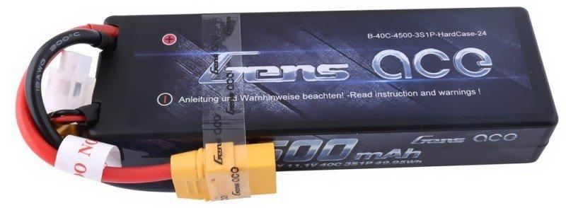 4500mAh 11.1V 45C XT90 HardCase 24 Gens Ace