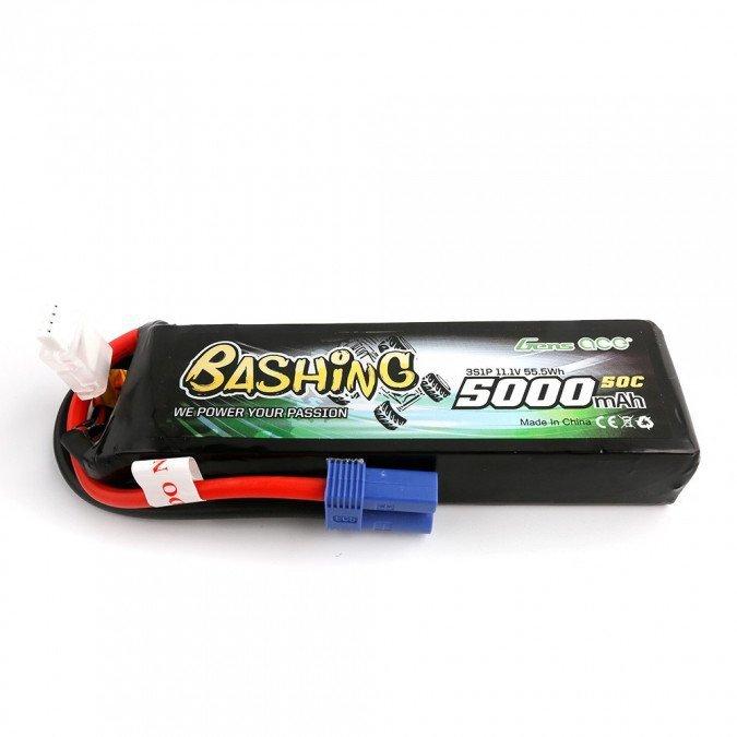 """5000mAh 11.1V 60C """"BASHING"""" EC5 Gens Ace"""