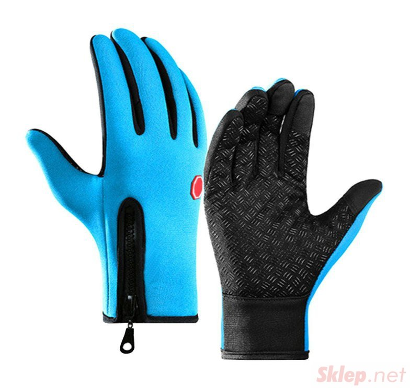 BQ19L Rękawiczki sport xl dotyk blue