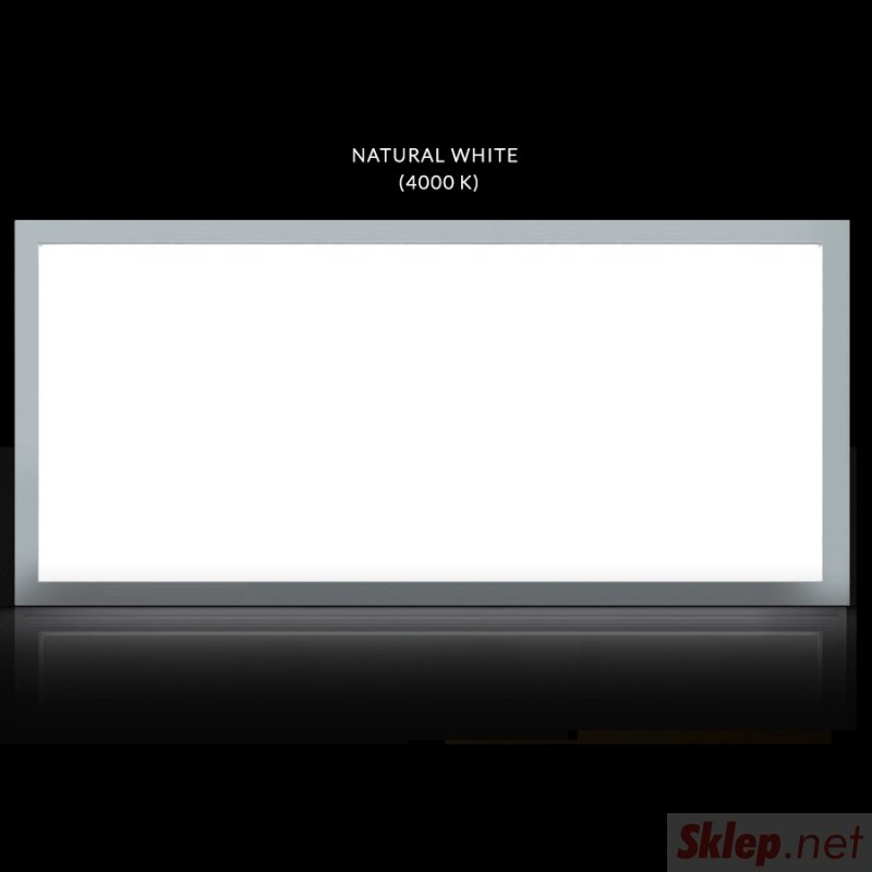 Panel LED sufitowy slim 40W, 3200lm Neutral White (4000K) Maclean Energy  MCE545 NW 1195x295x8mm raster, funkcja FLICKER-FREE