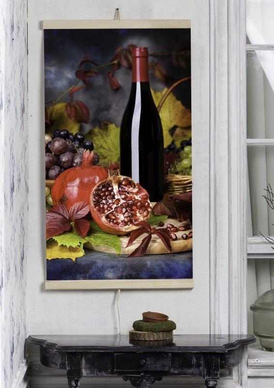 Grzejnik na podczerwień - giętki panel grzewczy 430W TRIO wzór 8 wino, wymiary 100x57cm