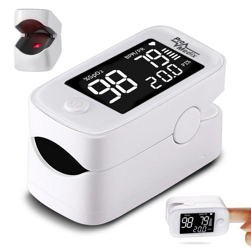 Pulsoksymetr napalcowy medyczny pulsometr oksymetr Promedix PR-870 1.5? HD LED
