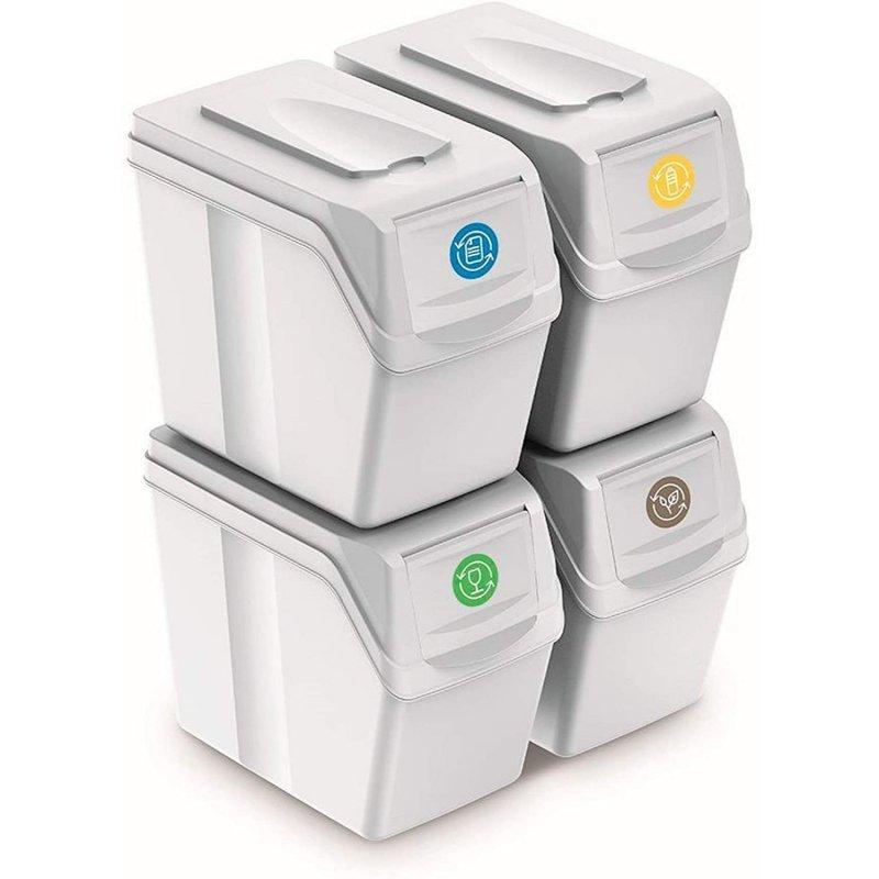 Zestaw koszy do segregacji Sortibox 4x20L białe ISWB20S4