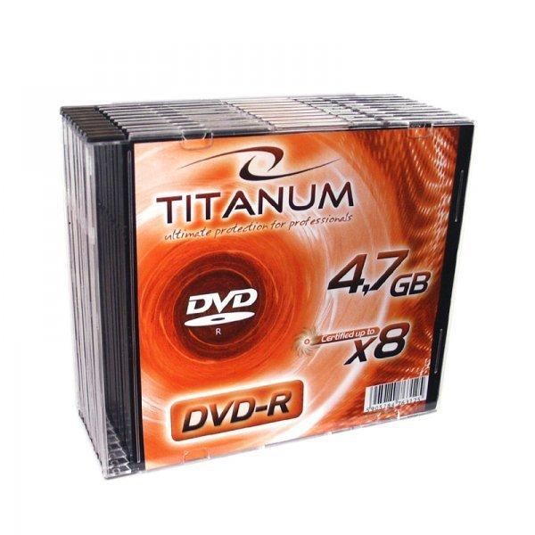 1072 DVD-R 4,7GB X8 - Slim Case 10  sztuk Titanum