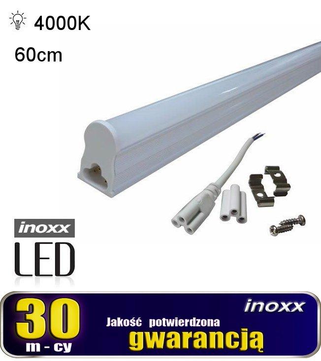 Świetlówka led liniowa t5 60cm 8w neutralna 4000k lampa natynkowa zintegrowana z oprawą