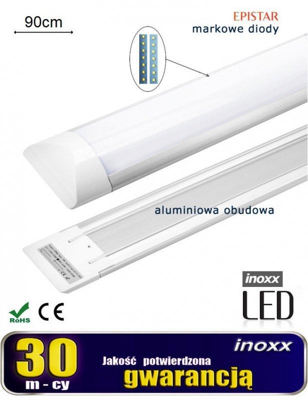 Lampa liniowa natynkowa panel led slim 90cm 30w 6000k zimna