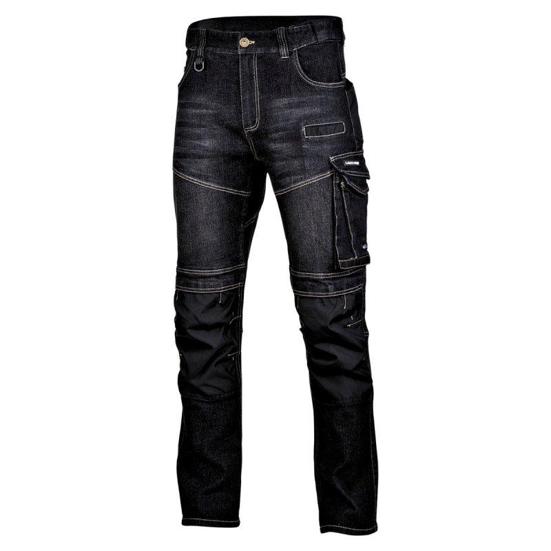 """Spodnie jeansowe czarne stretch ze wzmocn., """"l"""", ce, lahti"""