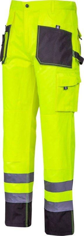 """Spodnie ostrzegawcze czarno-żółte, """"3xl"""", ce, lahti"""