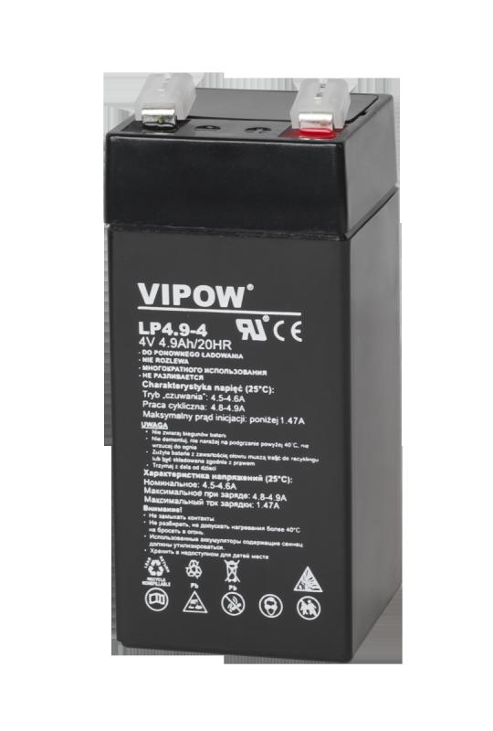 Akumulator żelowy VIPOW 4V 4,9Ah