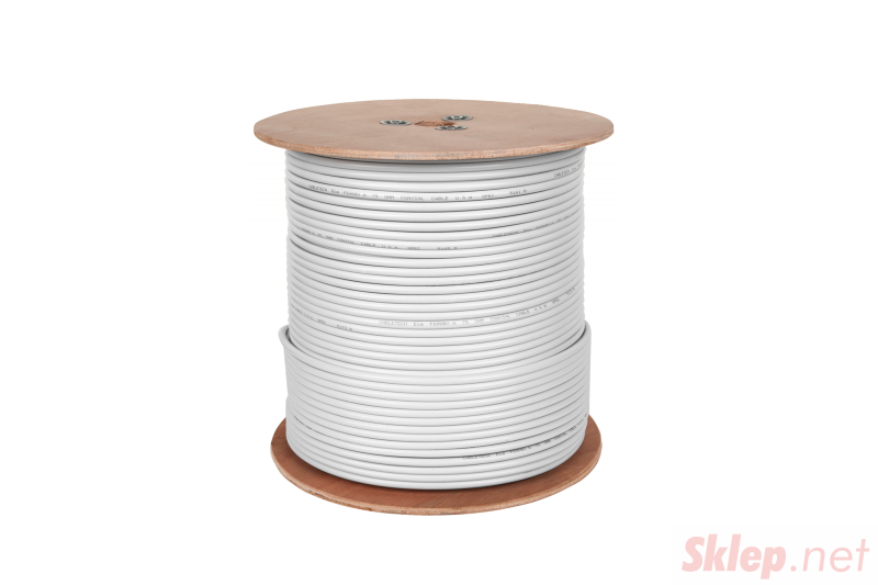 Kabel koncentryczny F690BV A biały szpula 305m