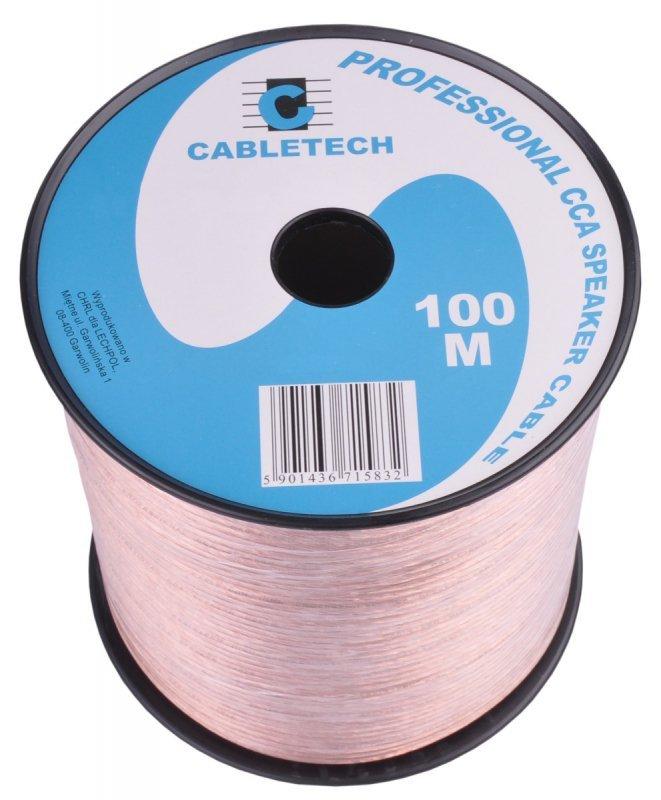 KAB0358 Kabel głośnikowy CCA 1.5mm (rolka 100m)