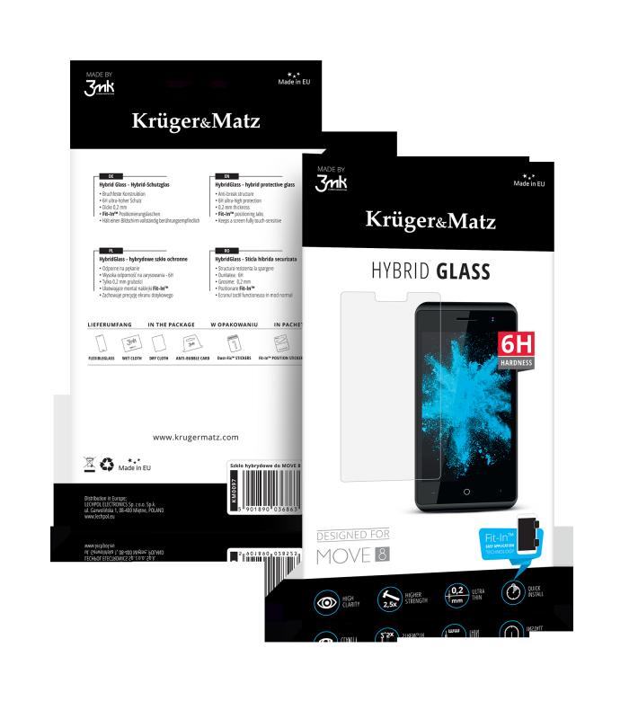 Szkło hybrydowe Kruger&Matz do Move 8