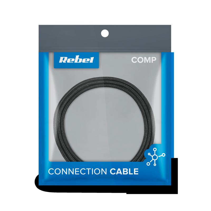 Kabel USB - Lightning REBEL 100 cm czarny