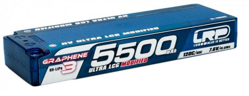 5500mAh 7.6V 120C/60C HardCase Graphene 3