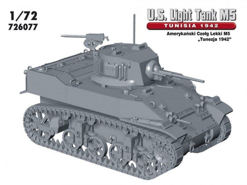 "M5 ""TUNEZJA 1942"" Amerykański Czołg Lekki"